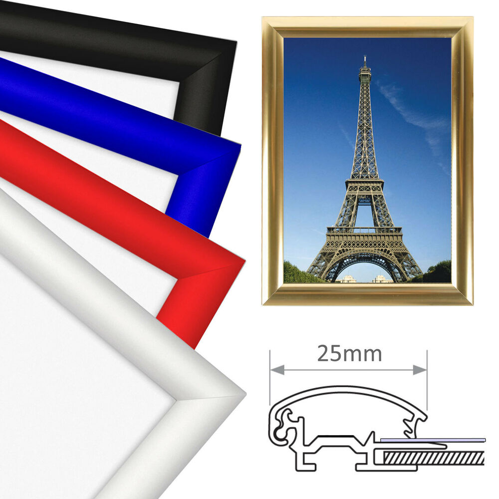 A4 snap frames picture poster holders clip displays retail for Photo clip wall frame