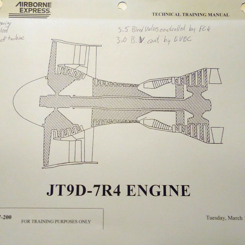 Pw Jt9d engine training manual