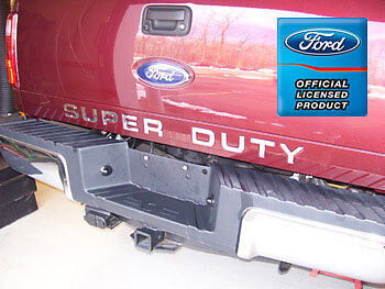 2008 2015 ford f350 super duty tailgate letter insert decals stickers bed f250 ebay. Black Bedroom Furniture Sets. Home Design Ideas