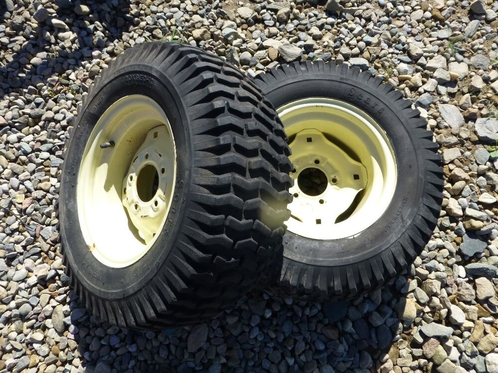 Tractor Rear Tires : Sears suburban ss tractor rear tires rims