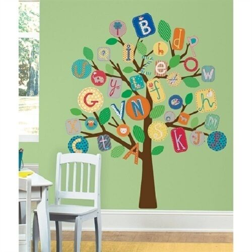ABC ALPHABET LETTERS TREE Wall Stickers MURAL 56 Decals