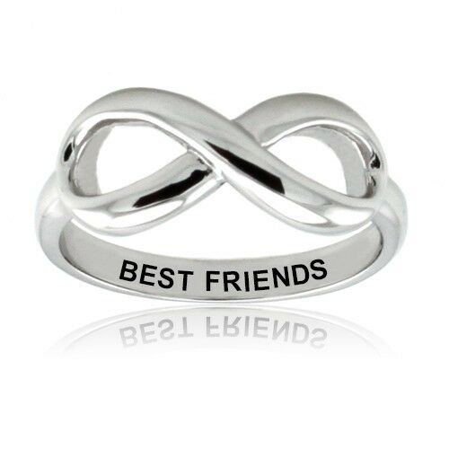 sterling silver 925 best friends infinity wedding promise