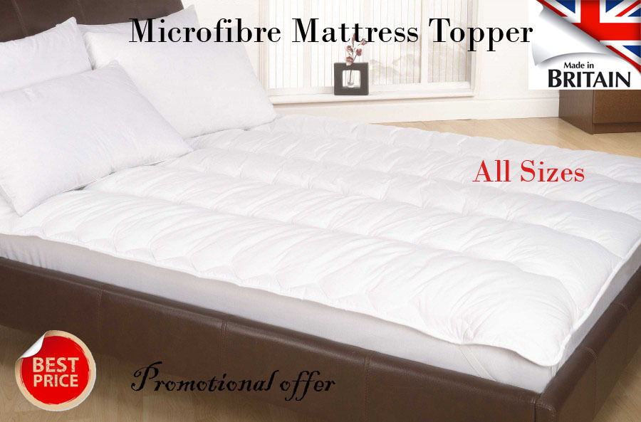 Orthopedic Microfibre Mattress Topper Reviver With