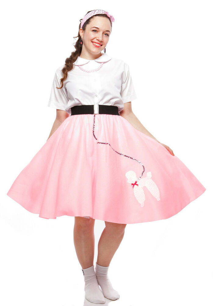 50s Felt Sock Hop Poodle Circle Skirt - sz Teen to Adult ...