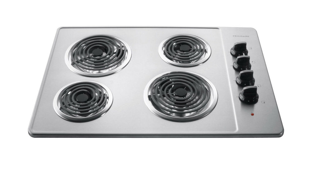 Top Ranked Electric Cooktops ~ Frigidaire stainless steel quot electric coil top cooktop