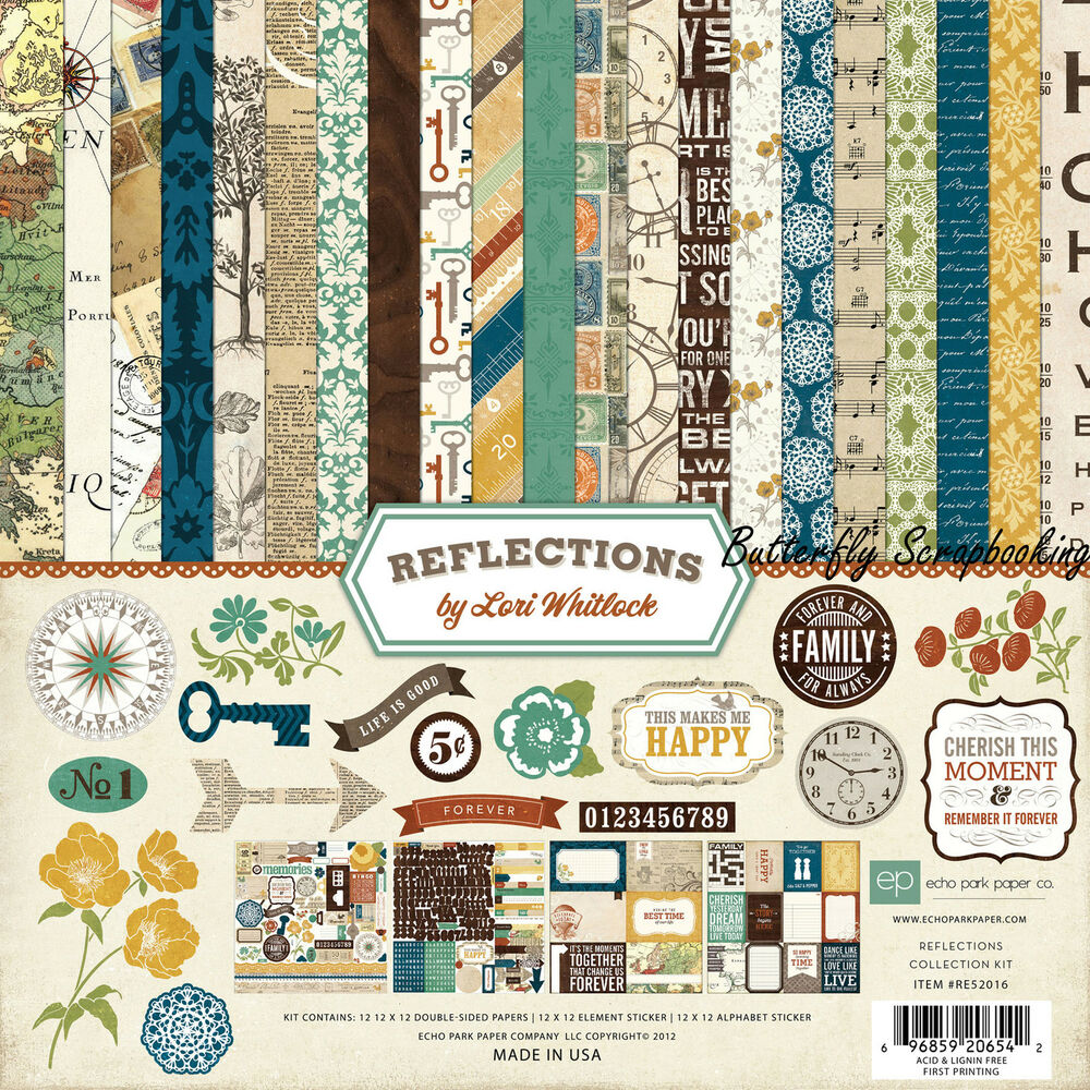 Scrapbook paper collections - Family Reflections Collection 12x12 Scrapbooking Kit Echo Park Paper Co New Ebay