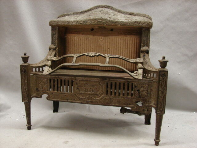 1800 Electric Iron ~ Antique late s cast iron ornate gas fireplace insert