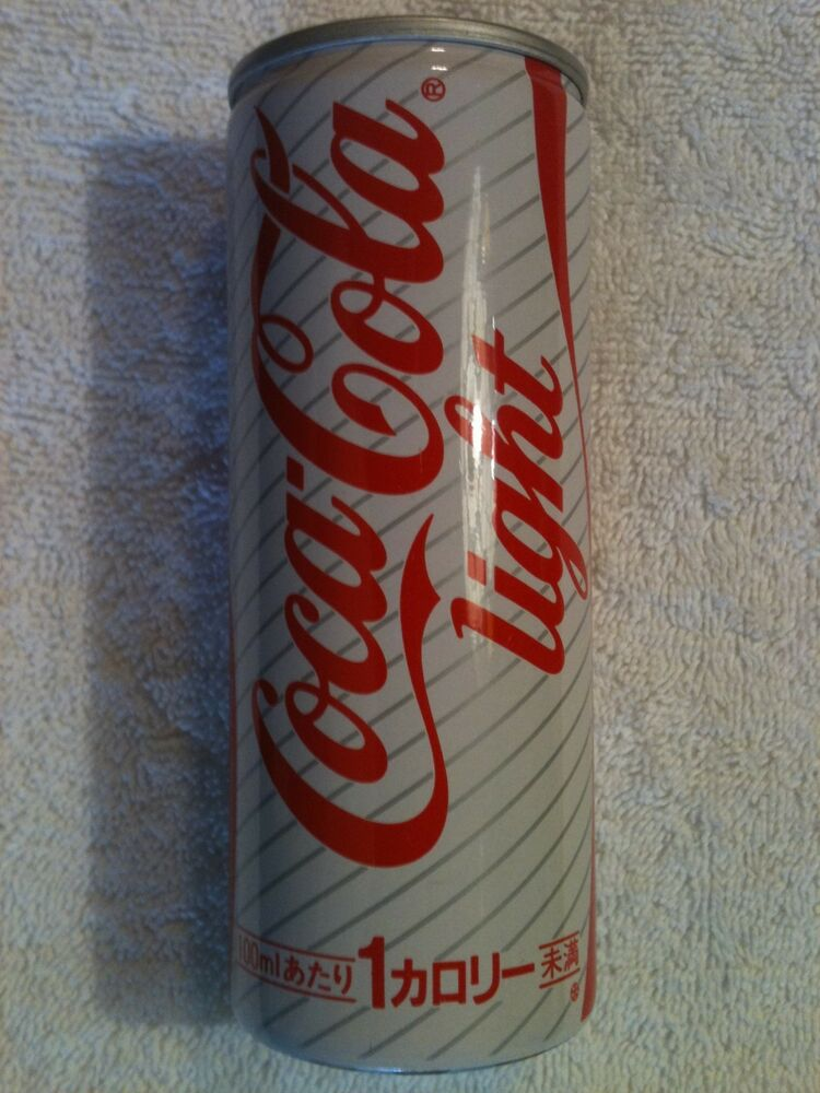coca cola light coke light 250ml 1980 s japan airline can jas full unopened ebay. Black Bedroom Furniture Sets. Home Design Ideas