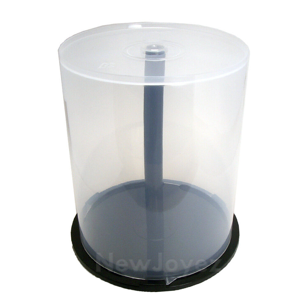 new one 100 disc cd dvd storage cake box case spindle ebay. Black Bedroom Furniture Sets. Home Design Ideas
