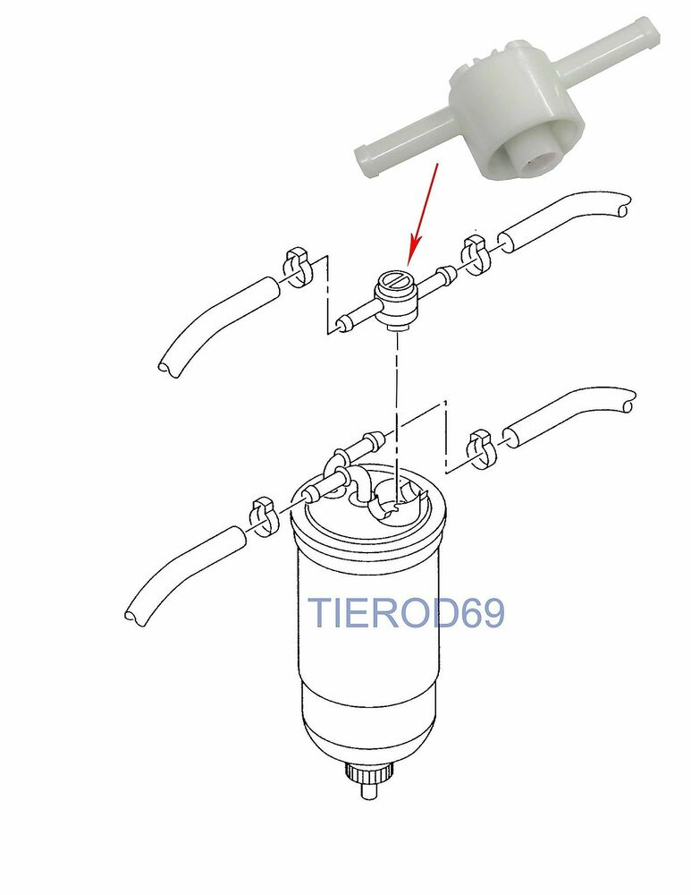 vw golf mk3 polo hatchback fuel filter bleed valve