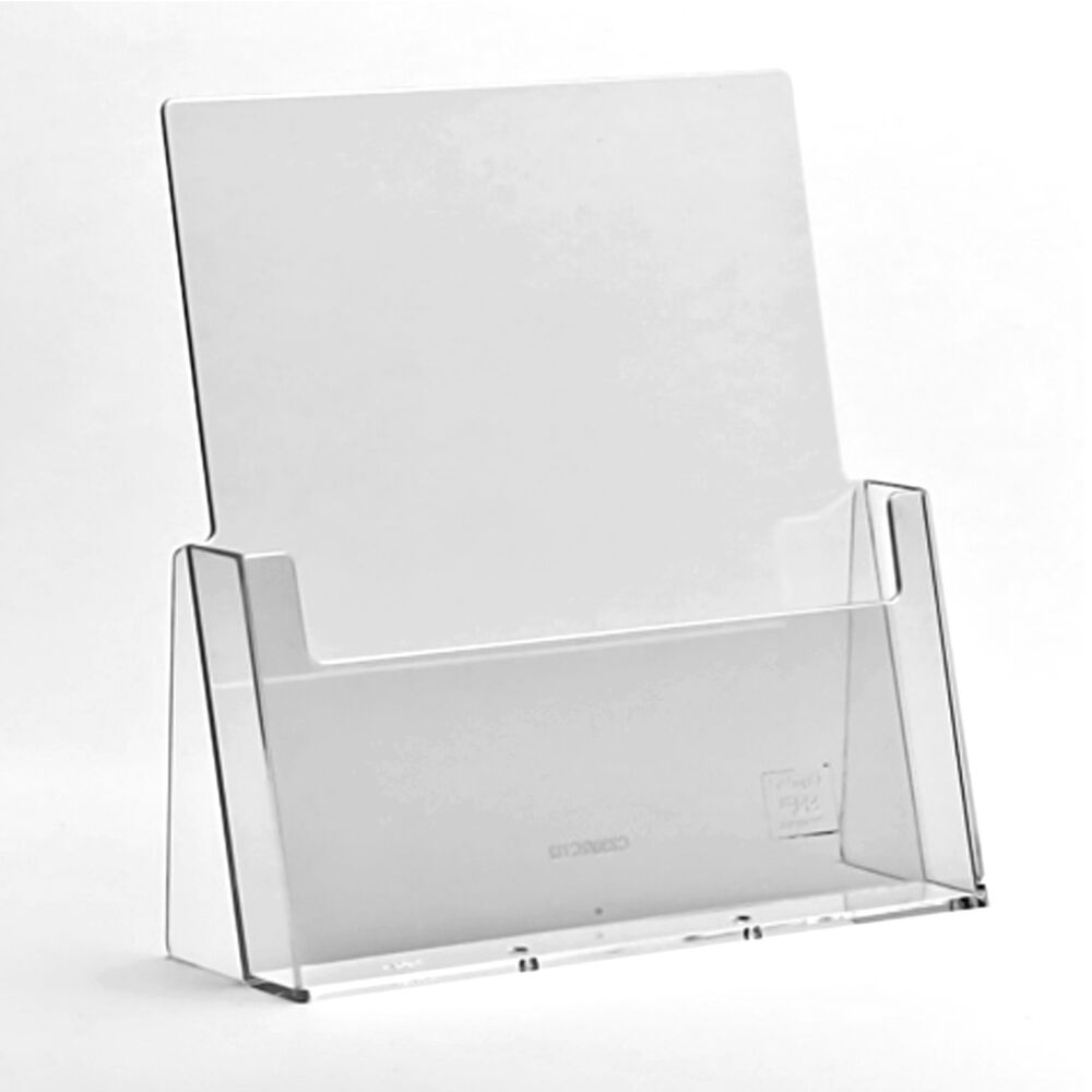 A6 DL A5 & A4 Leaflet Holders Counter Display Stand Flyer Menu Retail ...