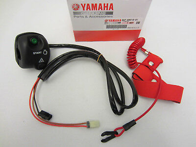 Yamaha New OEM WaveRunner Start Stop Switch Box w/ Lanyard, GA7-68310-01-00