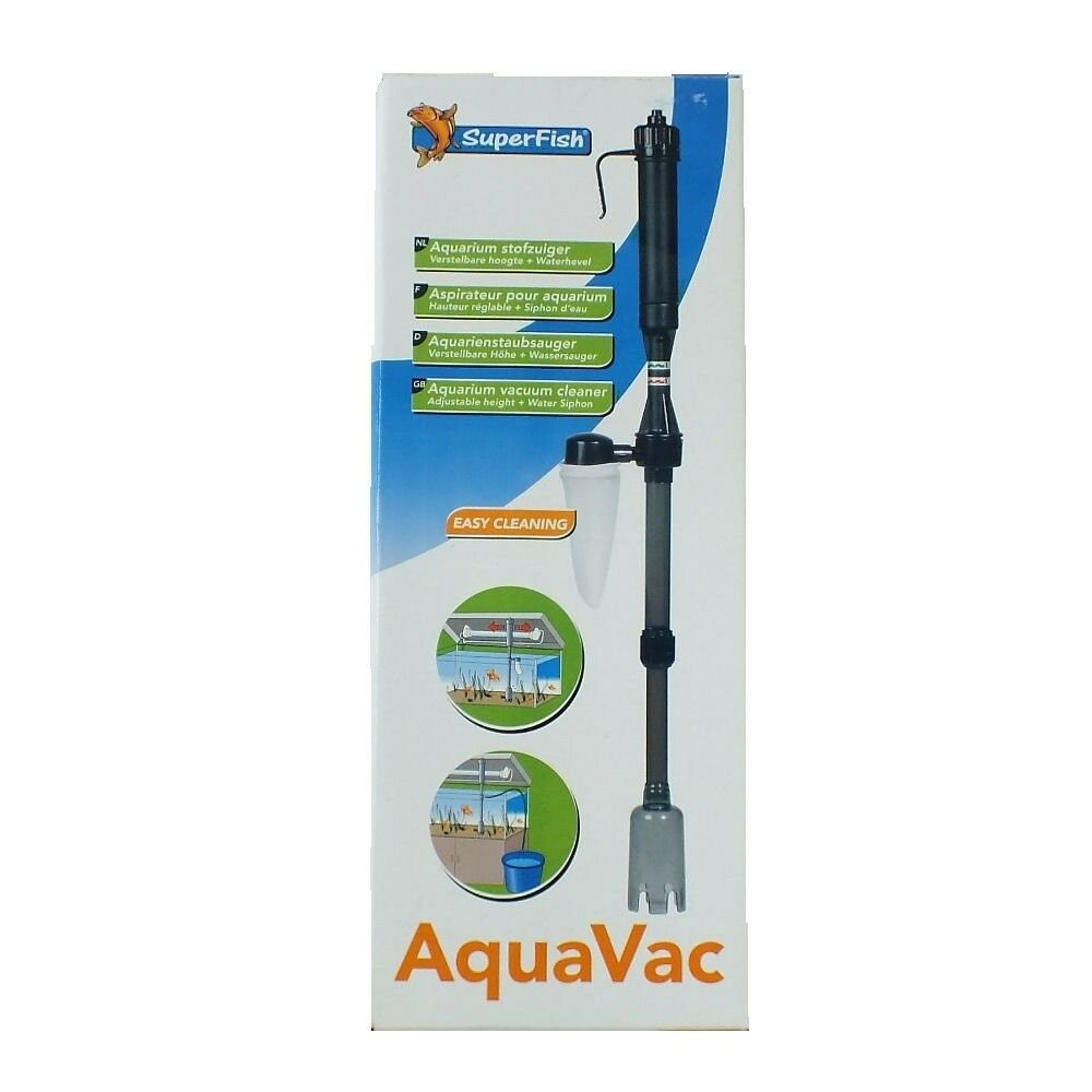 Superfish aquavac aquarium fish tank syphon cleaner vacuum for Fish tank vacuum