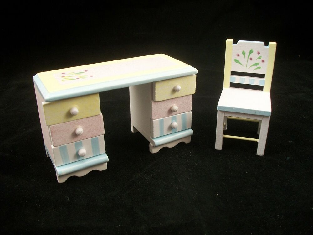 Hand Painted Wooden Dollhouse