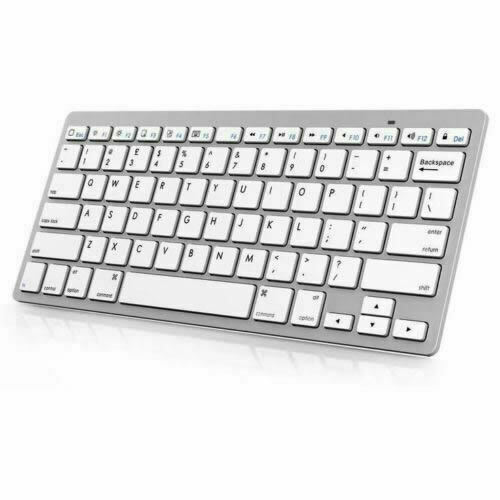 Bluetooth Keyboard Apple Android: NEW Slim Wireless Bluetooth Keyboard For IMac IPad Android Phone Tablet PC UK