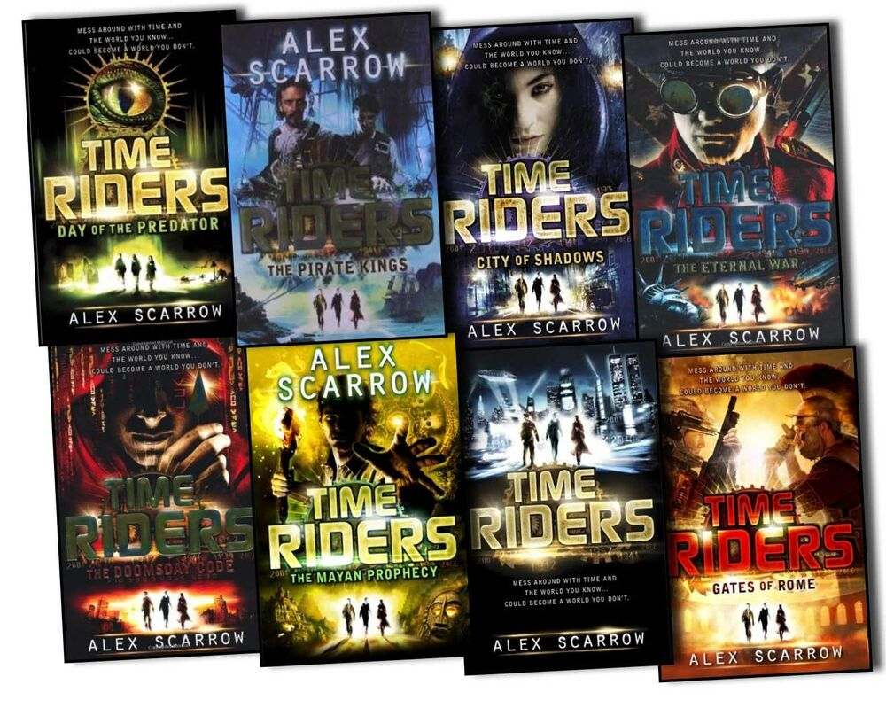 Alex Scarrow Time Riders 8 Books Collection Pack Set The