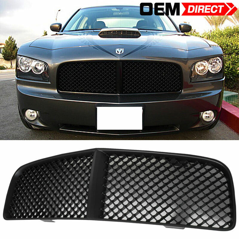 06 10 dodge charger black euro mesh grill front grille ebay. Black Bedroom Furniture Sets. Home Design Ideas