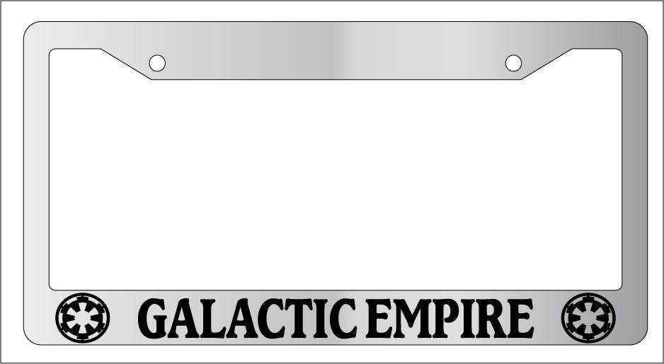 chrome license plate frame galactic empire auto accessory novelty star wars 77