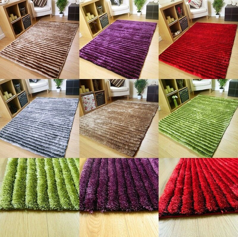 Small Large Pink Rug Cerise Runners Sparkle Modern Thick: NEW SMALL LARGE MODERN RUGS THICK SHINY SOFT SILKY SHAGGY