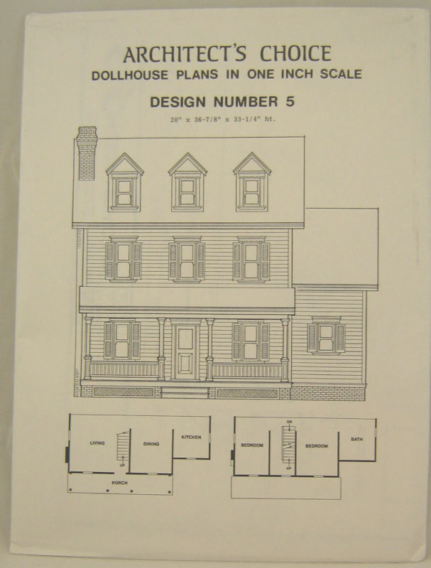 Dollhouse Plans Design 5 Architect S Choice 1 12 Scale
