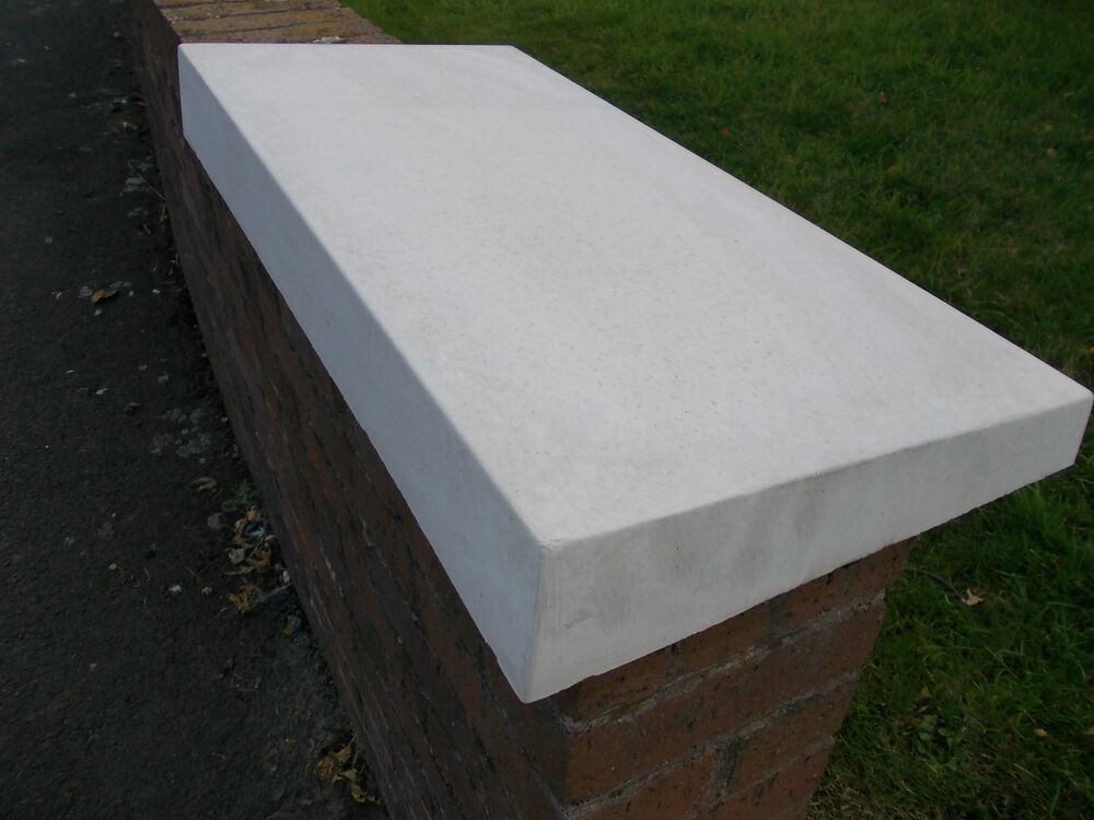 Precast Wall Coping : Mm quot once weathered concrete coping stone