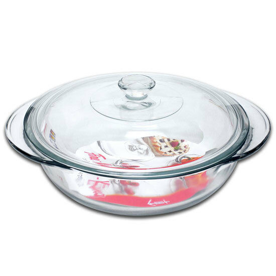 Anchor Hocking Large Round Glass Ovenware Casserole Dish