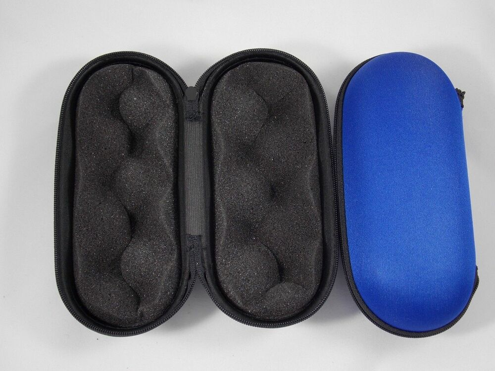 5 padded pouch hard case protective for smoking pipe blue storage case only ebay. Black Bedroom Furniture Sets. Home Design Ideas