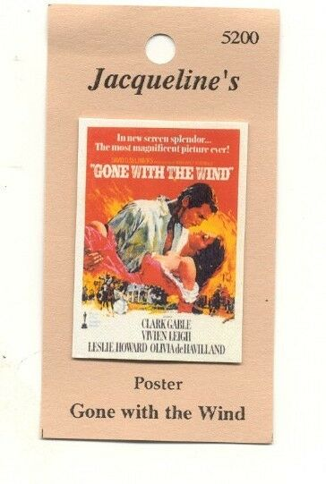 "Poster ""Gone With The Wind"" cinema movie 5200 dollhouse ..."