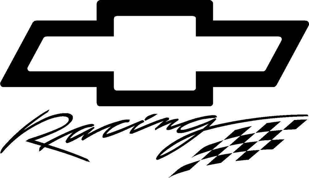 chevy racing factory vinyl cut decal  5 99 free shipping
