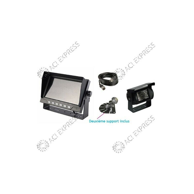 video camera de recul camping car poids lourds cable 20m. Black Bedroom Furniture Sets. Home Design Ideas
