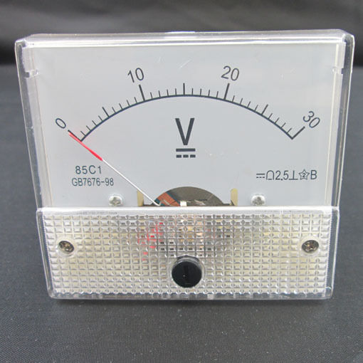 L De Voltage Meter : Dc v analog panel volt voltage meter voltmeter gauge