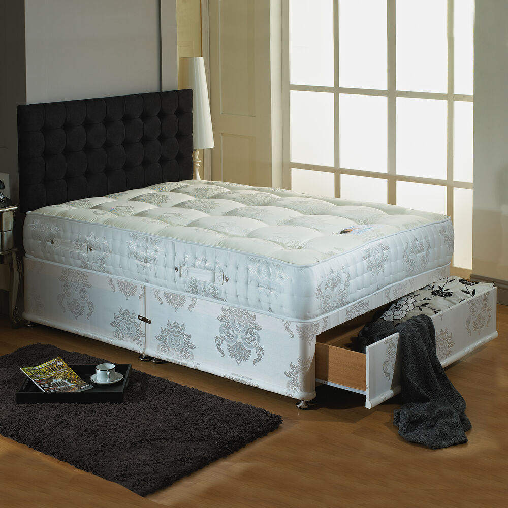 3000 pocket sprung divan bed available in all sizes 3ft for 4ft 6 divan bed