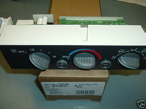 2005 Chevy Tahoe Auxiliary Heaterair Conditioning Control Module
