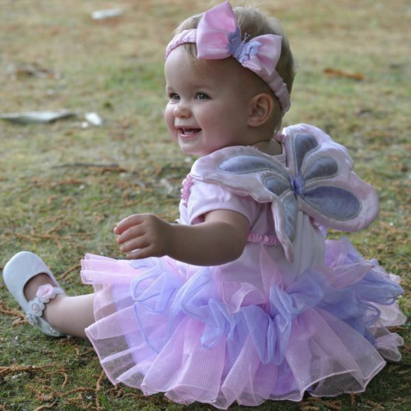 Girls Baby Toddler Fairy Angel Wings Princess Tutu