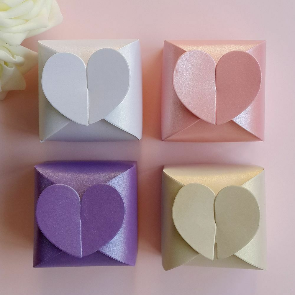 Chocolate Gift Boxes Usa : Love heart candy boxes wedding party baby shower