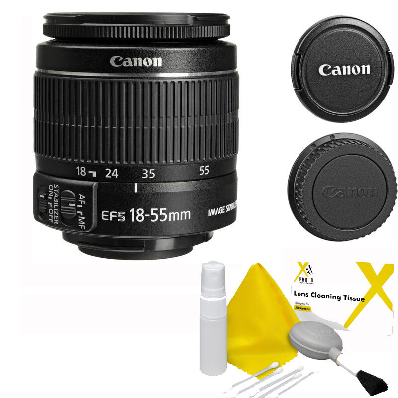 canon ef s 18 55mm f 3 5 5 6 is ii lens 5 pc cleaning. Black Bedroom Furniture Sets. Home Design Ideas