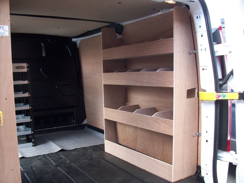 van ply lining templates - ford transit custom van racking ply shelving swb storage