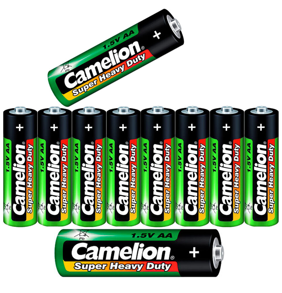32 x batterie typ aa mignon camelion super heavy duty 1 5v r6p 8er pack batterei ebay. Black Bedroom Furniture Sets. Home Design Ideas