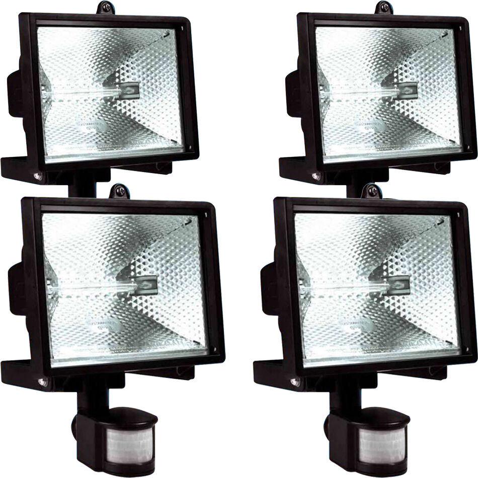 500w 150w halogen floodlight security light pir motion. Black Bedroom Furniture Sets. Home Design Ideas