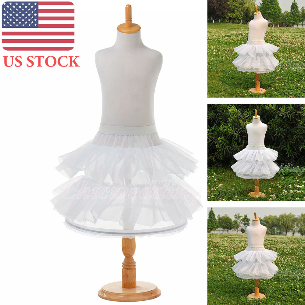 Tulle children petticoat bridal layered dress crinoline for Tulle petticoat for wedding dress