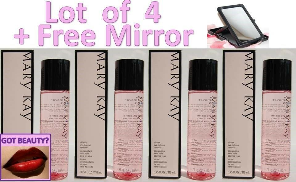 Lot of 4 Mary Kay Oil Free Eye Makeup Remover - plus FREE MIRROR- FREE ...
