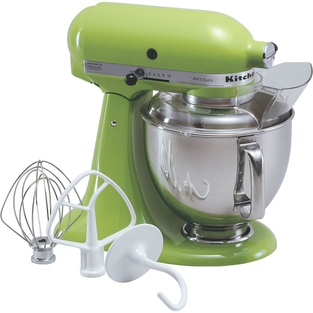 kitchenaid green apple artisan 5 quart tilt head stand mixer ksm150psga 883049012513 ebay. Black Bedroom Furniture Sets. Home Design Ideas