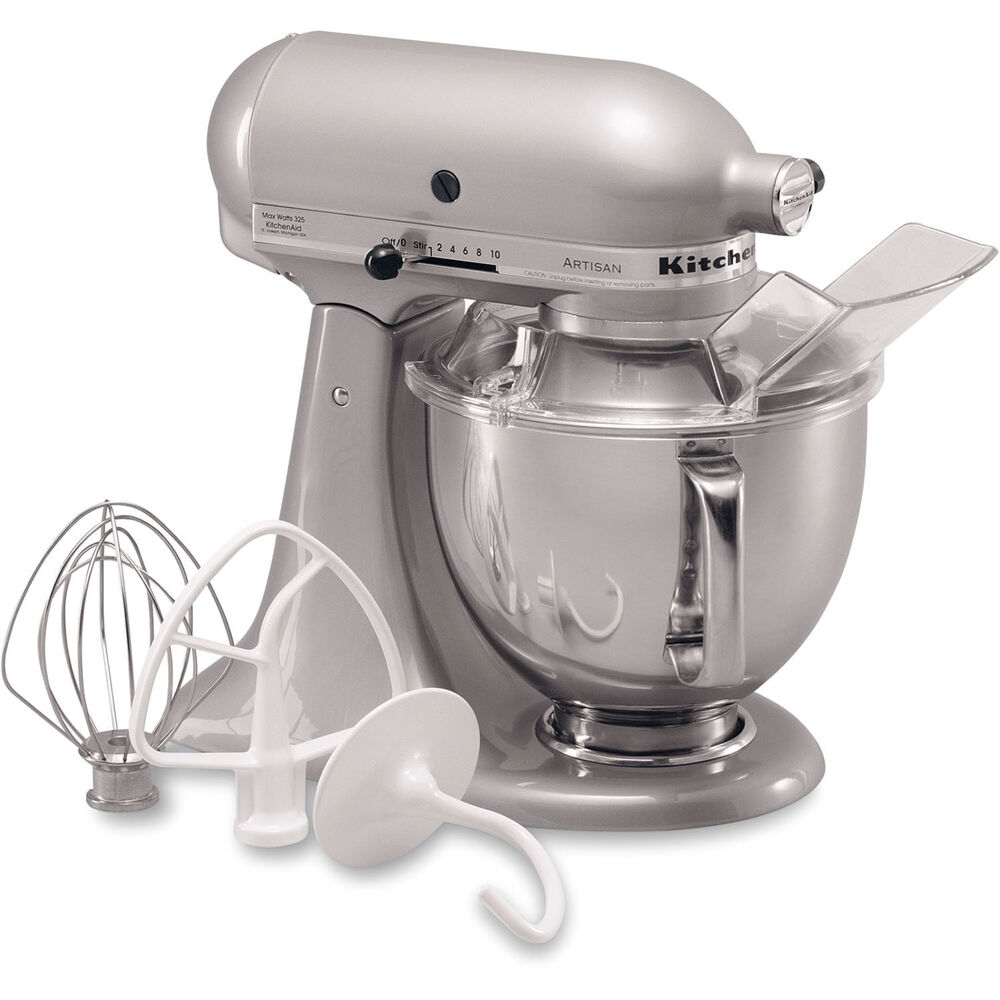 kitchenaid metallic chrome artisan 5 quart tilt head stand mixer ksm150psmc 50946908366 ebay. Black Bedroom Furniture Sets. Home Design Ideas