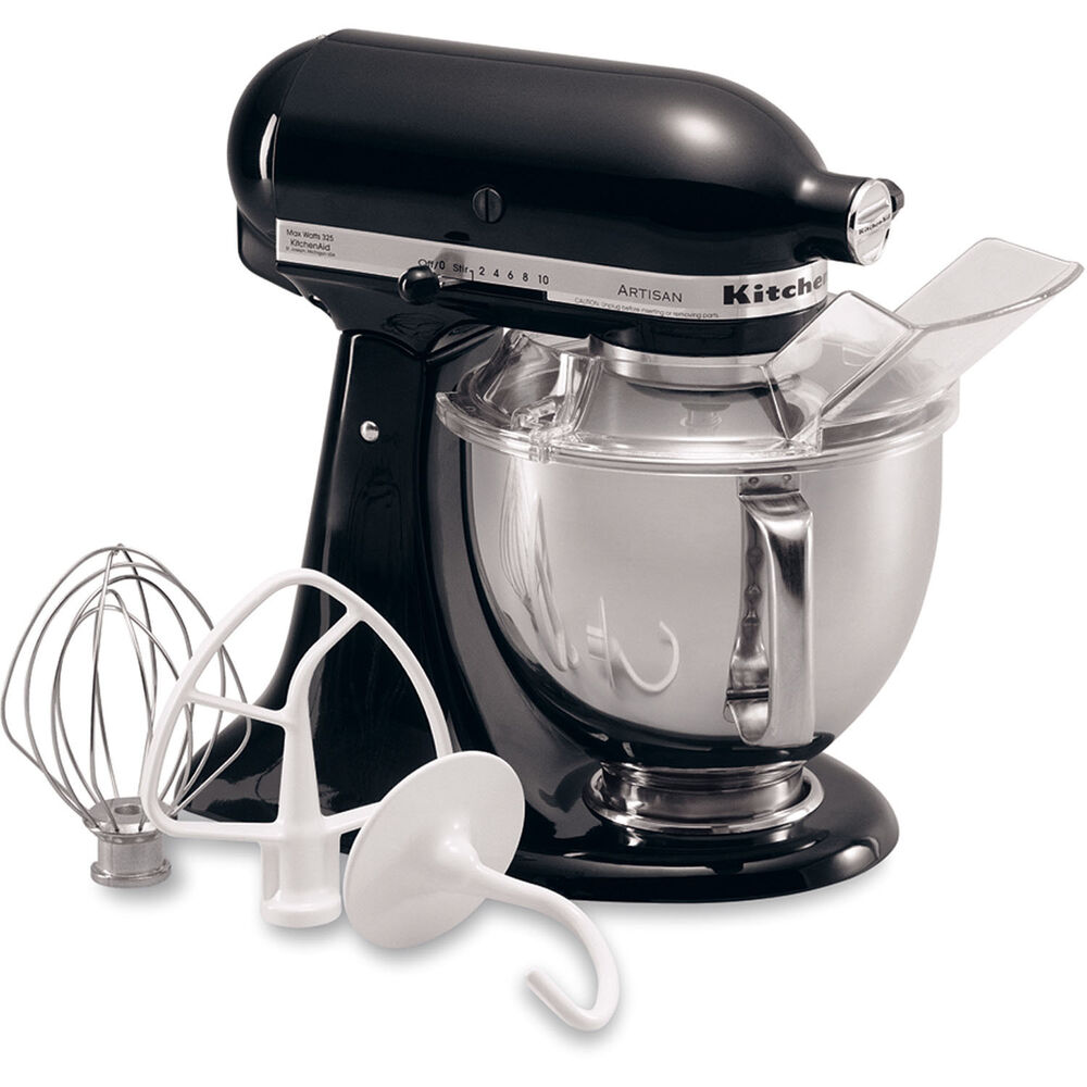 kitchenaid onyx black artisan 5 quart tilt head stand mixer ksm150psob ebay. Black Bedroom Furniture Sets. Home Design Ideas