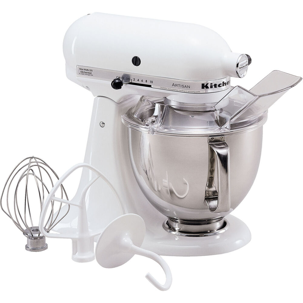 kitchenaid white artisan 5 quart tilt head stand mixer. Black Bedroom Furniture Sets. Home Design Ideas