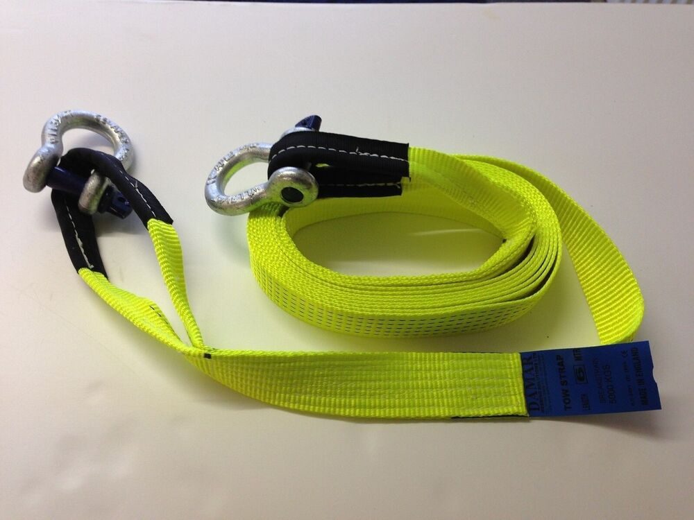 Dozer Tow Straps : Recovery winch strap shackles towing tow m offroad