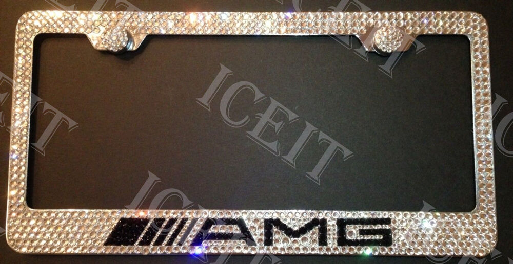Mercedes amg stainless steel license plate frame made with for Mercedes benz amg carbon fiber license plate frame