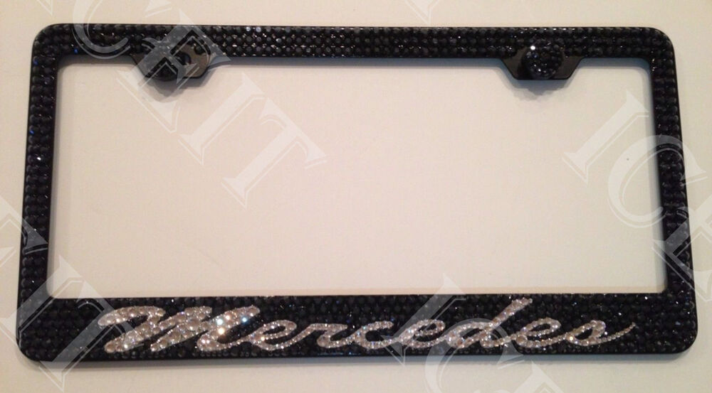 mercedes benz stainless steel license plate frame black