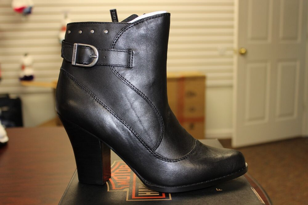 s harley davidson abriana boots black leather d83534