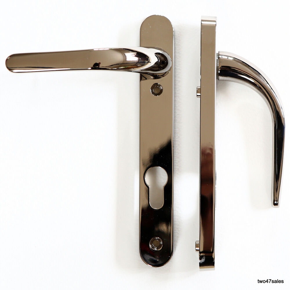 Easy Fit Smokey Chrome Quality Door Handle Patio Front